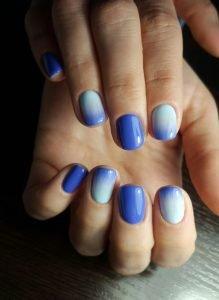 "Дизайн омбре на ногтях в салонах ""Маки"""