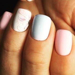 """Квадратные ногти в салоне """"Маки"""""""